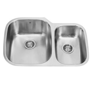 VIGO 30-inch Undermount Stainless Steel 18 Gauge Double Bowl Kitchen Sink