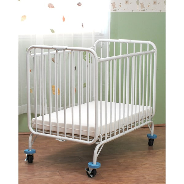 LA Baby Compact Folding Metal Crib   Free Shipping Today   Overstock.com    11452442