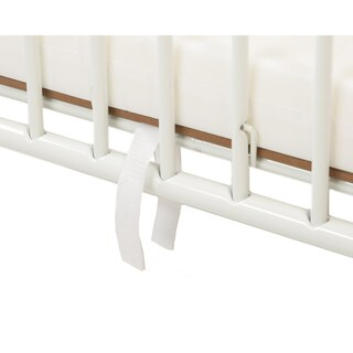 LA Baby Compact Folding Metal Crib