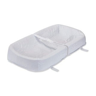 LA Baby White Vinyl 30-inch Cocoon Changing Pad