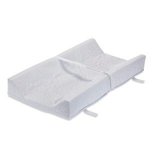 LA Baby Contoured Changing Pad - White