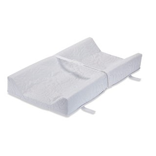 LA Baby 32-inch Contoured Changing Pad - White