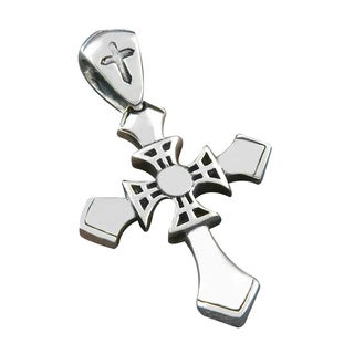 Handmade Sterling Silver Cross Cawi Pendant (Indonesia)