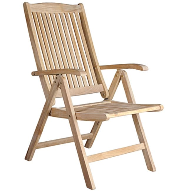 Helsinki teak recliner patio chair free shipping today for Reclining patio chair