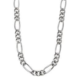 Men's Titanium 8mm Figaro Necklace (24-inch)|https://ak1.ostkcdn.com/images/products/3366222/Mens-Titanium-8mm-Figaro-Necklace-24-inch-P11454694.jpg?impolicy=medium
