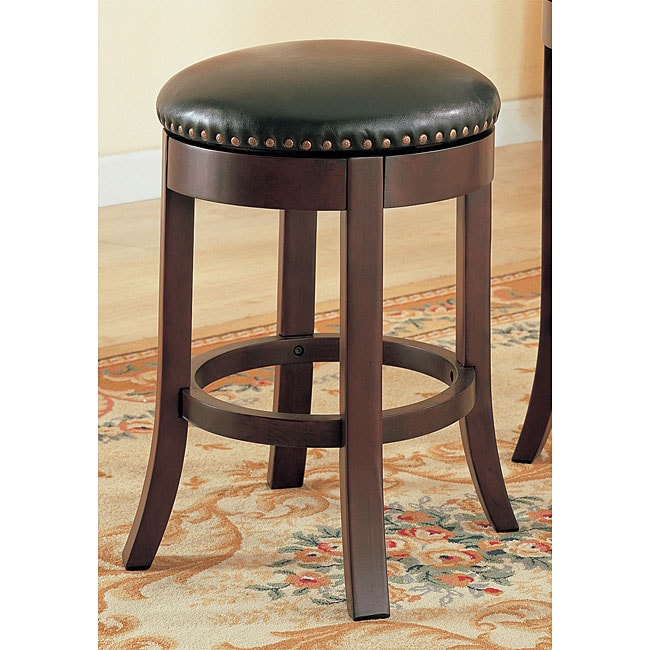 Shop Cherry 24 Inch Counter Swivel Stools Set Of 4 Free Shipping