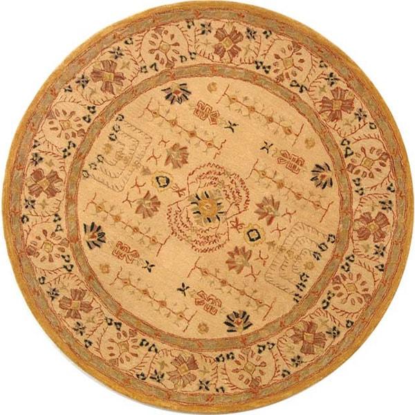 Safavieh Handmade Treasured Sand Wool Rug (8' Round)