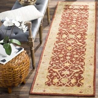 Safavieh Handmade Antiquities Mahal Rust/ Beige Wool Runner (2'3 x 10')