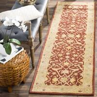 Safavieh Handmade Antiquities Mahal Rust/ Beige Wool Runner Rug - 2'3 x 10'