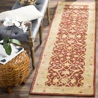 "Safavieh Handmade Antiquities Mahal Rust/ Beige Wool Runner Rug - 2'3"" x 12'"