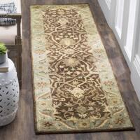 Safavieh Handmade Antiquities Mahal Brown/ Blue Wool Runner (2'3 x 12')