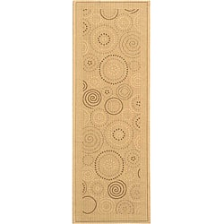 Safavieh Ocean Swirls Natural/ Brown Indoor/ Outdoor Runner (2'4 x 6'7)
