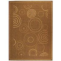 Safavieh Ocean Swirls Brown/ Natural Indoor/ Outdoor Rug - 5'3 x 7'7