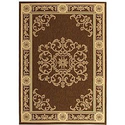 Safavieh Indoor/ Outdoor Sunny Chocolate/ Natural Rug (2' x 3'7)