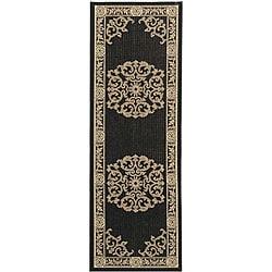 Safavieh Indoor/ Outdoor Sunny Black/ Sand Rug (2'4 x 6'7)