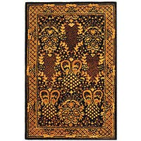 Safavieh Handmade Majestic Black New Zealand Wool Rug - 4' x 6'