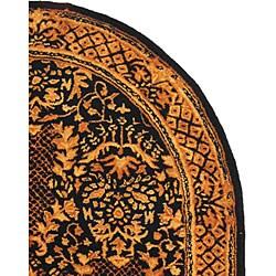 Safavieh Handmade Majestic Black New Zealand Wool Rug (7'6 x 9'6 Oval)