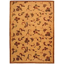 Safavieh Handmade Paradise Gold New Zealand Wool Rug - 6' x 9' - Thumbnail 0