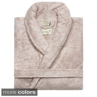 Rayon from Bamboo Shawl Collar Bath Robe (Option: White)