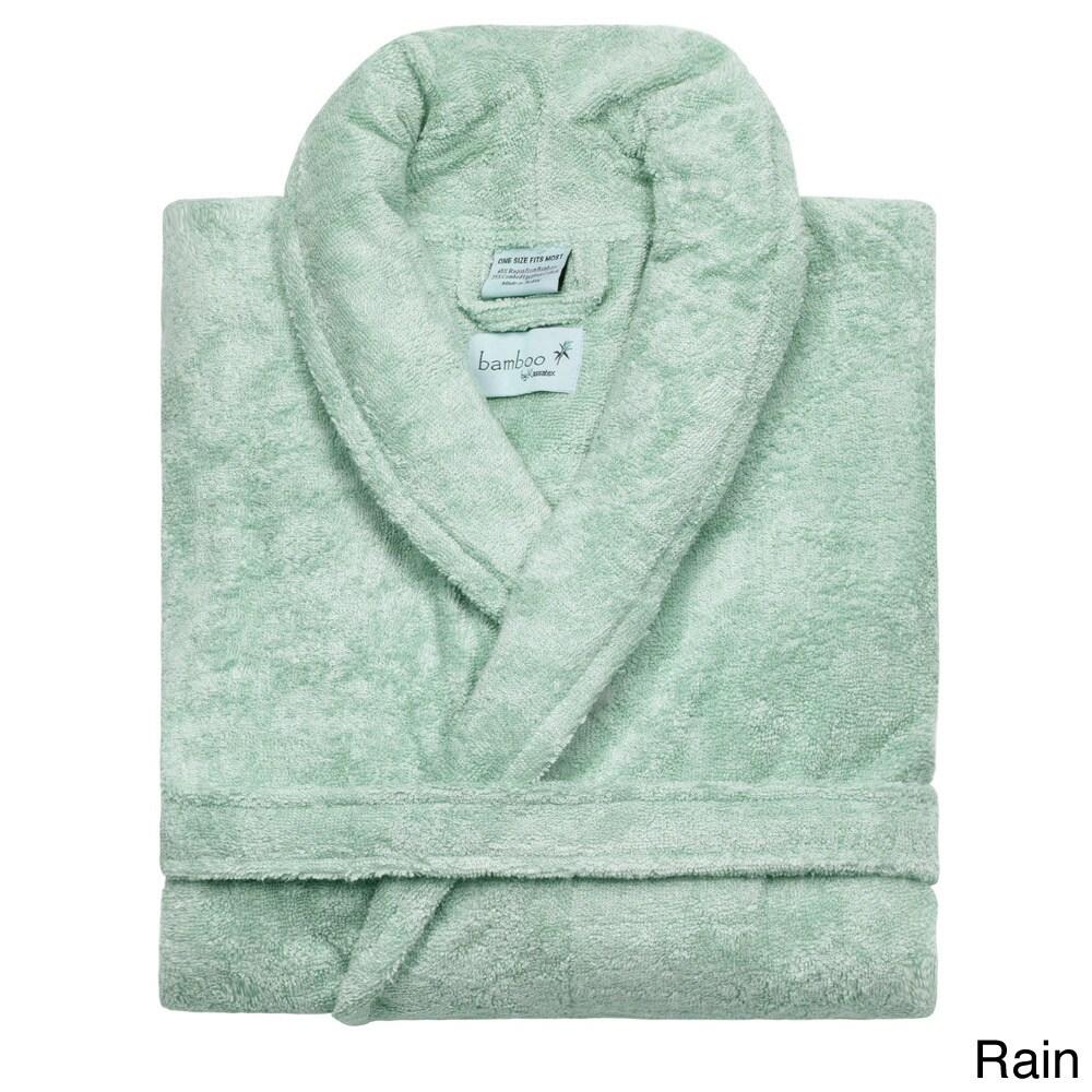 Rayon from Bamboo Shawl Collar Bath Robe (Green), Infant ...