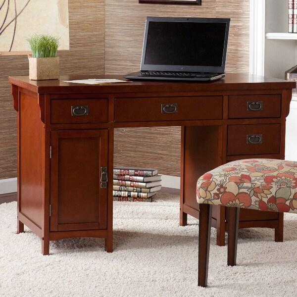 Harper Blvd Wakefield Mahogany Mission Computer Desk
