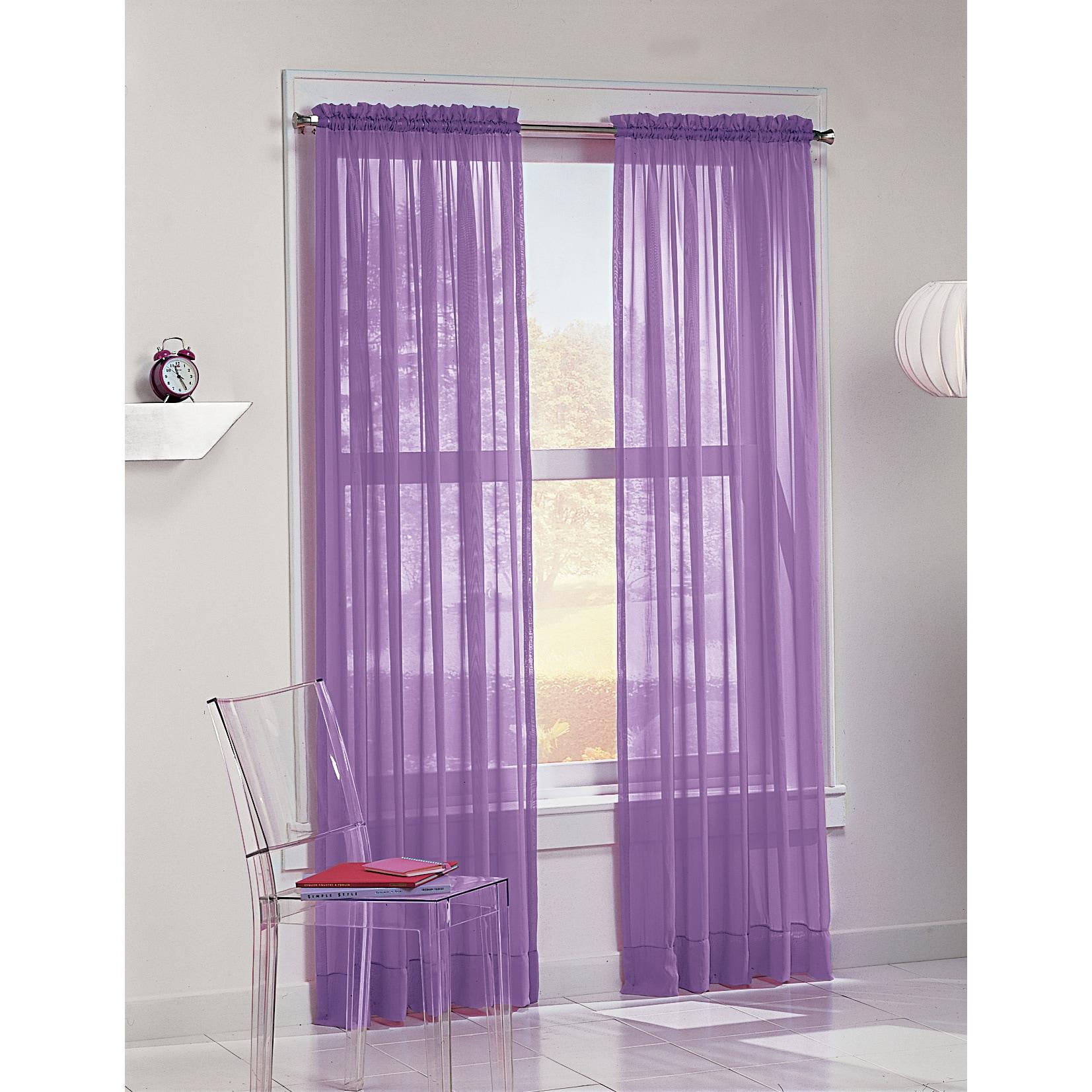 No. 918 Calypso 63-inch Curtain Panel (Purple), Size 63 I...