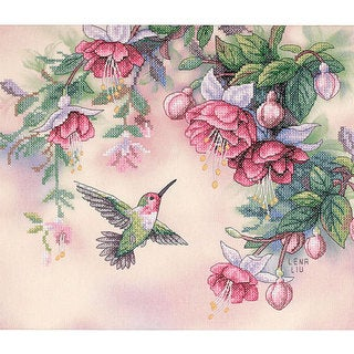 Hummingbird Stamped Cross Stitch Kit