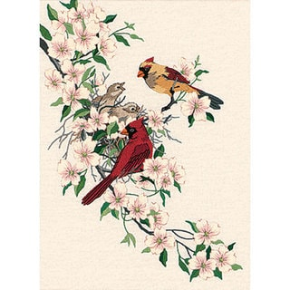 'Cardinals In Dogwood' Crewel Embroidery Kit