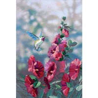 Hollyhocks in Bloom Crewel Kit