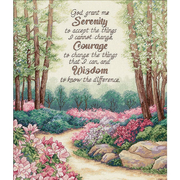 Serenity, Courage, Wisdom Counted Cross Stitch Kit