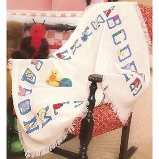 Baby Alphabet Afghan Cross Stitch Kit