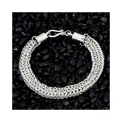 Handmade Sterling Sliver 'Togetherness' Bracelet (Indonesia)