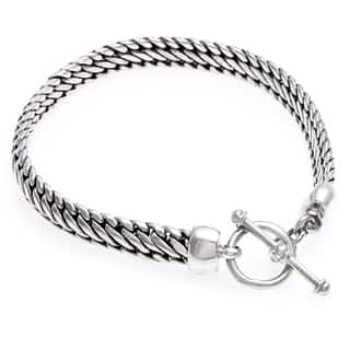 Links of Masculine Power Sturdy Link Chain with Toggle Clasp Closurure 925 Sterling Silver Mens Brac|https://ak1.ostkcdn.com/images/products/3374290/P11461364.jpg?impolicy=medium