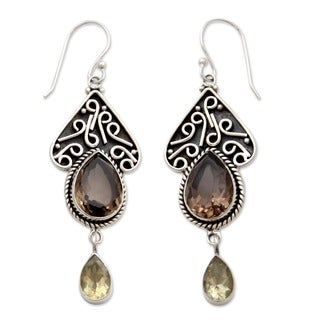 Quartz 'Queen of Jaipur' Earrings (India)