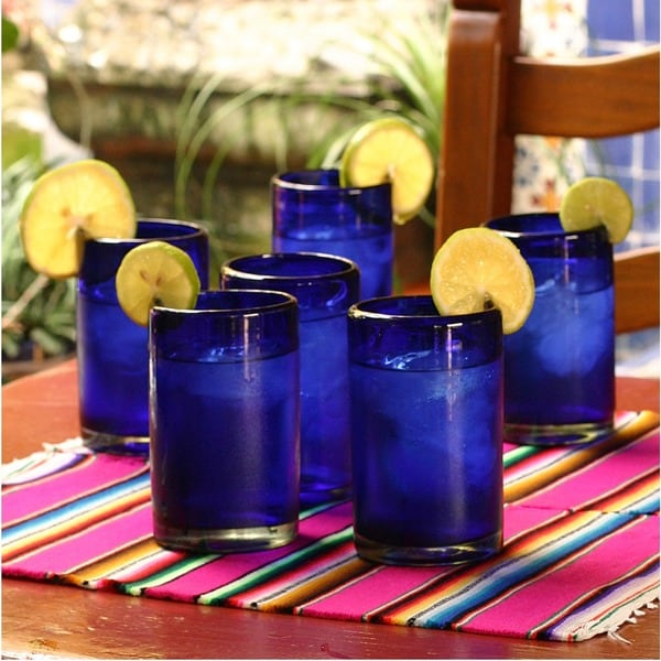Handmade Set of 6 'Solid' Drinking Glasses (Mexico)