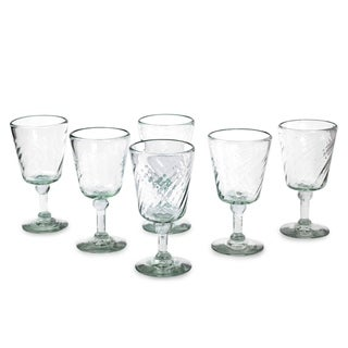 Link to Handmade Wine glasses Contoured set of 6 (Mexico) Similar Items in Glasses & Barware