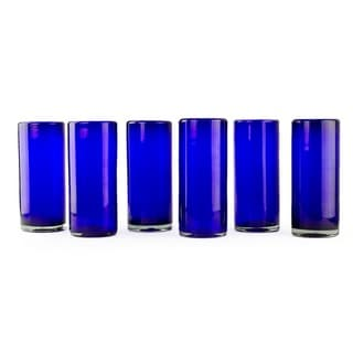 Link to Handmade Set of 6 Blown Glass 'Pure Cobalt' Highball Glasses (Mexico) Similar Items in Glasses & Barware