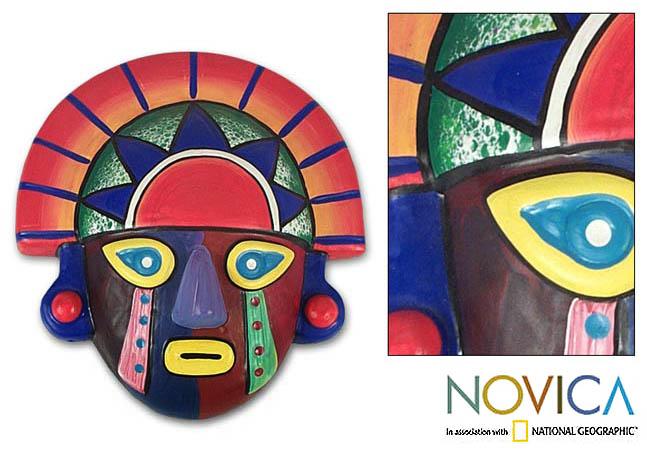 Ceramic 'Royalty' Mask (Peru)