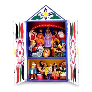 Handmade 'Chapel of Santa Ana' Retablo (Peru)