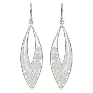 Handmade Sterling Silver Tendrils Dangling Style Earrings (Thailand)|https://ak1.ostkcdn.com/images/products/3374507/P11461437.jpg?impolicy=medium