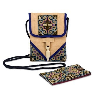 'Ultimate Blue' Hemp Handbag and Phone Pouch (Thailand)