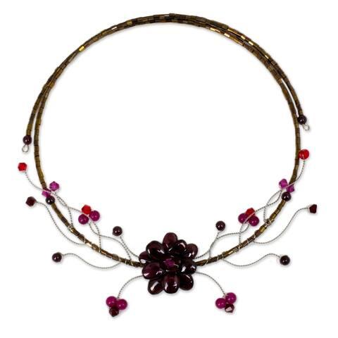 Handmade Crimson Beauty Garnet Choker (Thailand)