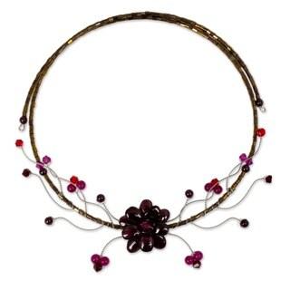 Handmade 'Crimson Beauty' Garnet Choker (Thailand)
