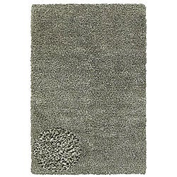 Hand-woven Shaggy Silver Polyester Rug (4' x 6')
