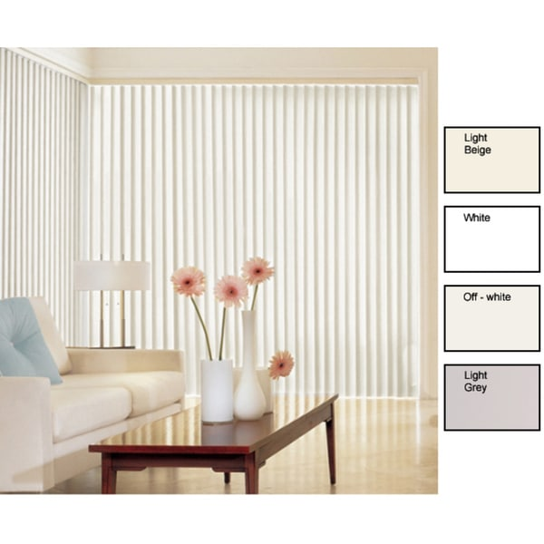 Solid Vinyl Vertical Blinds (48 in. W x Custom Length)