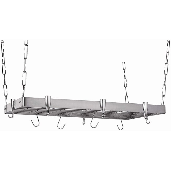 Rectangular Stainless Steel Pot Rack