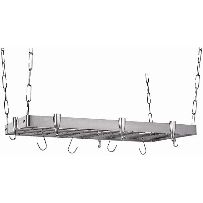 Rectangular Stainless Steel Pot Rack