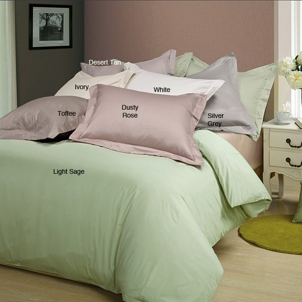 Sateen 600 Thread Count 3-piece Duvet Cover Set