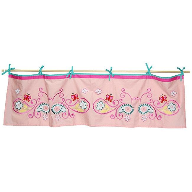 Tadpoles Butterfly Paisley Tie-top Curtain Valance