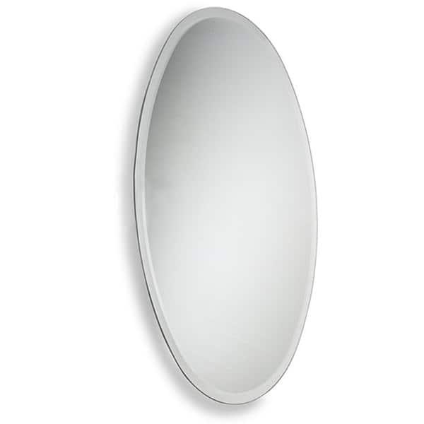 Allied Br Oval Beveled Edge Bathroom Wall Mirror Clear A N